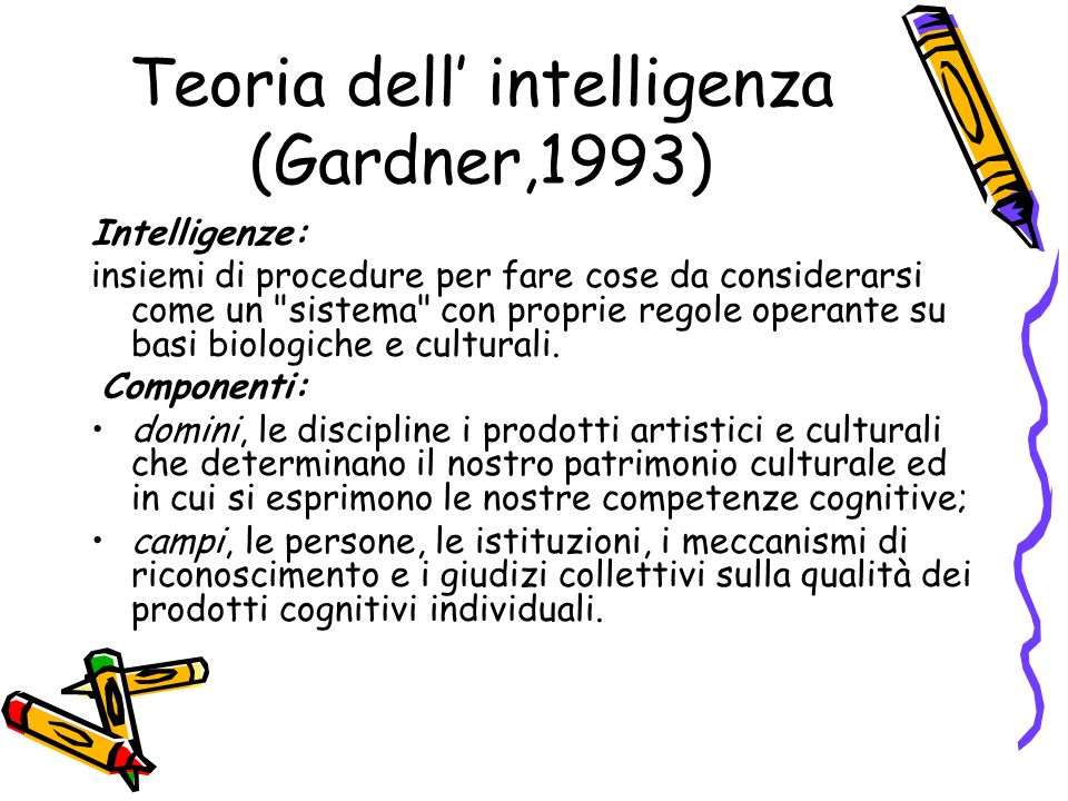 Teoria dell' intelligenza (Gardner,1993)