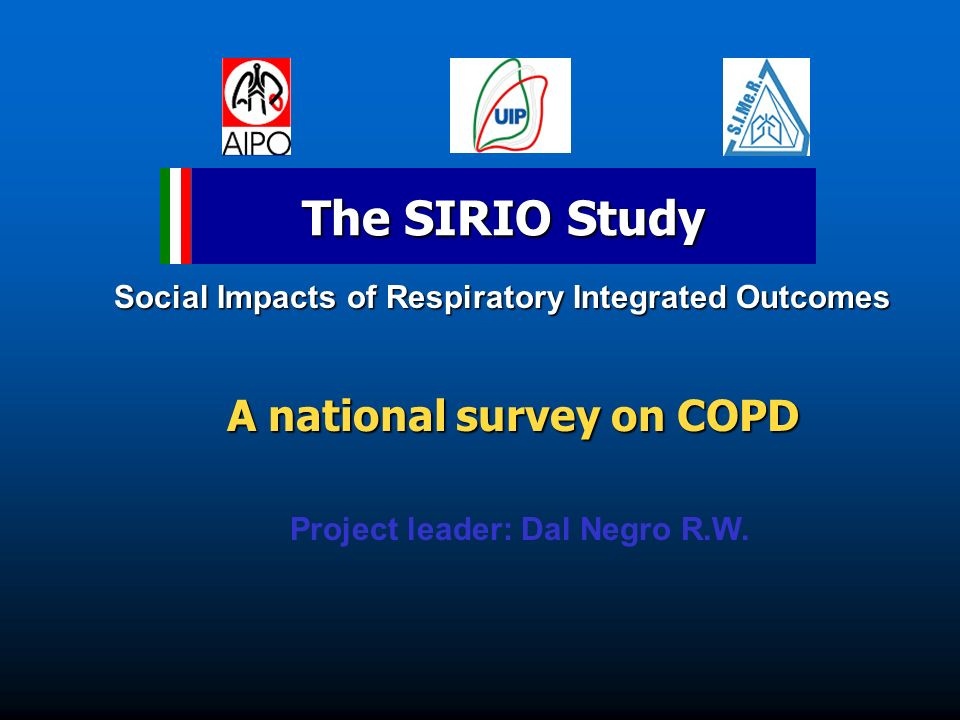 A national survey on COPD Project leader: Dal Negro R.W.