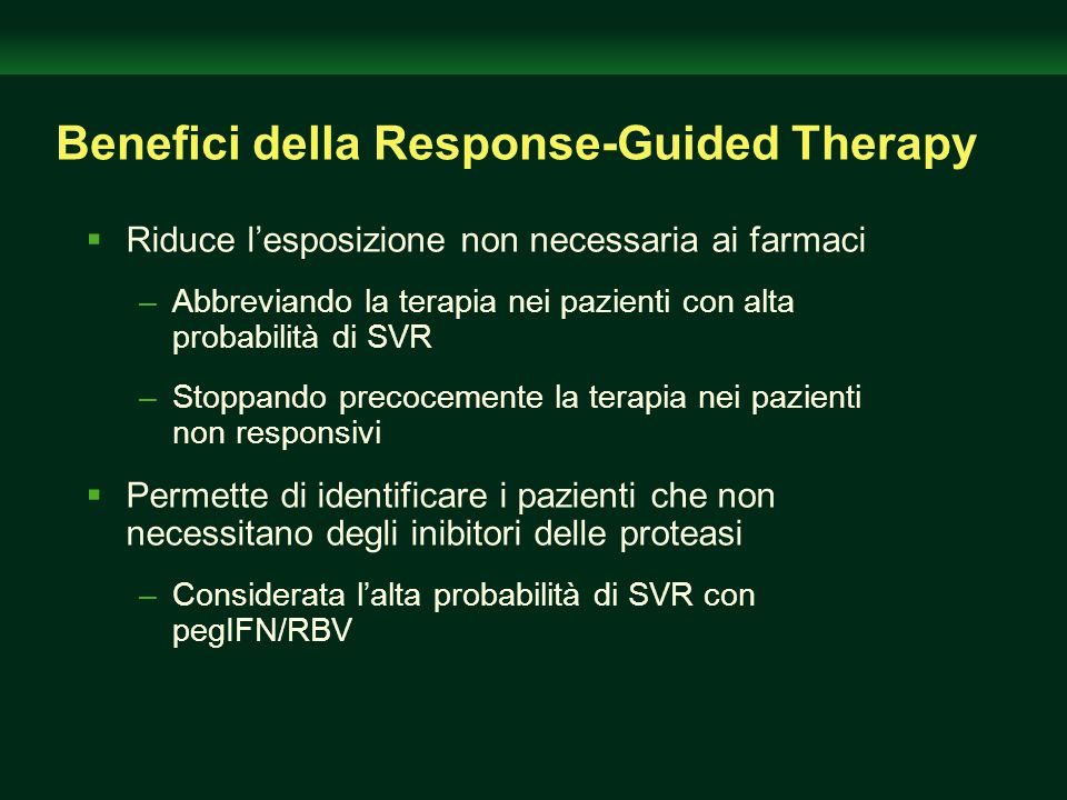 Benefici della Response-Guided Therapy