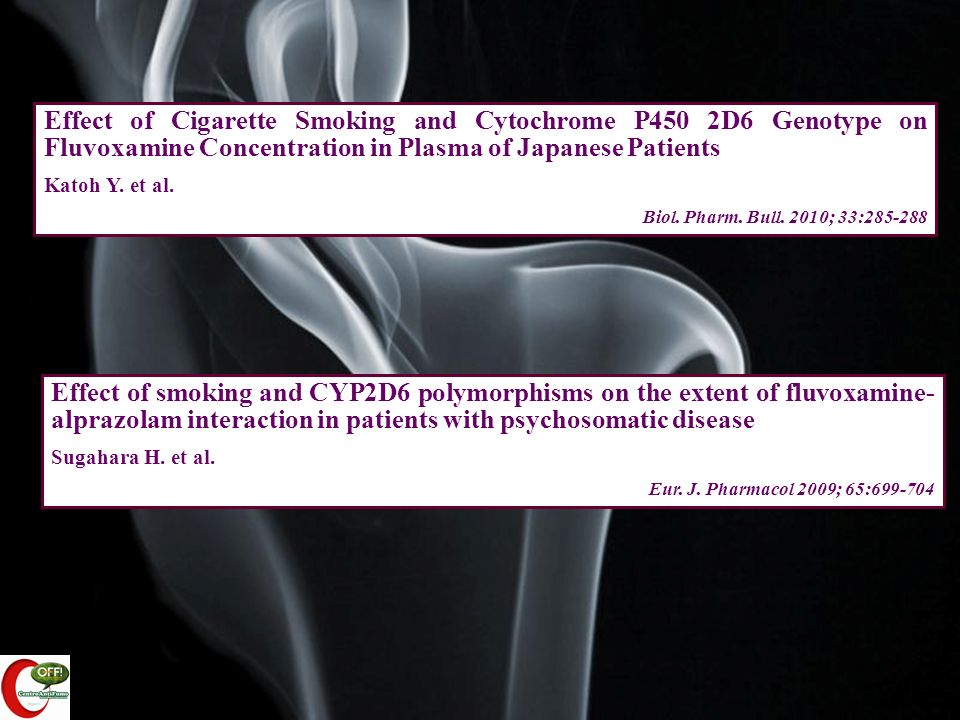Effect of Cigarette Smoking and Cytochrome P450 2D6 Genotype on Fluvoxamine Concentration in Plasma of Japanese Patients