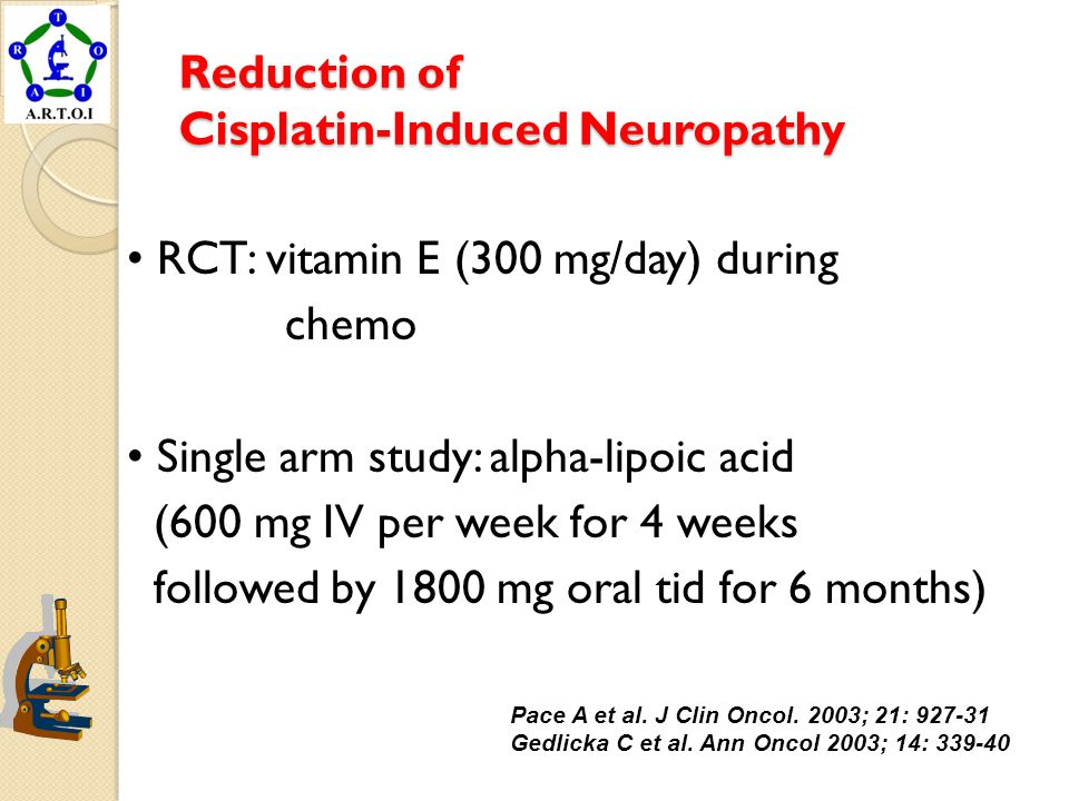 Reduction of Cisplatin-Induced Neuropathy
