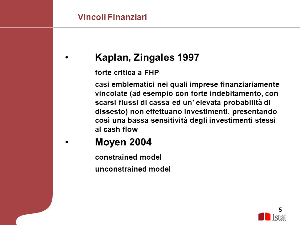 Kaplan, Zingales 1997 forte critica a FHP Moyen 2004 constrained model