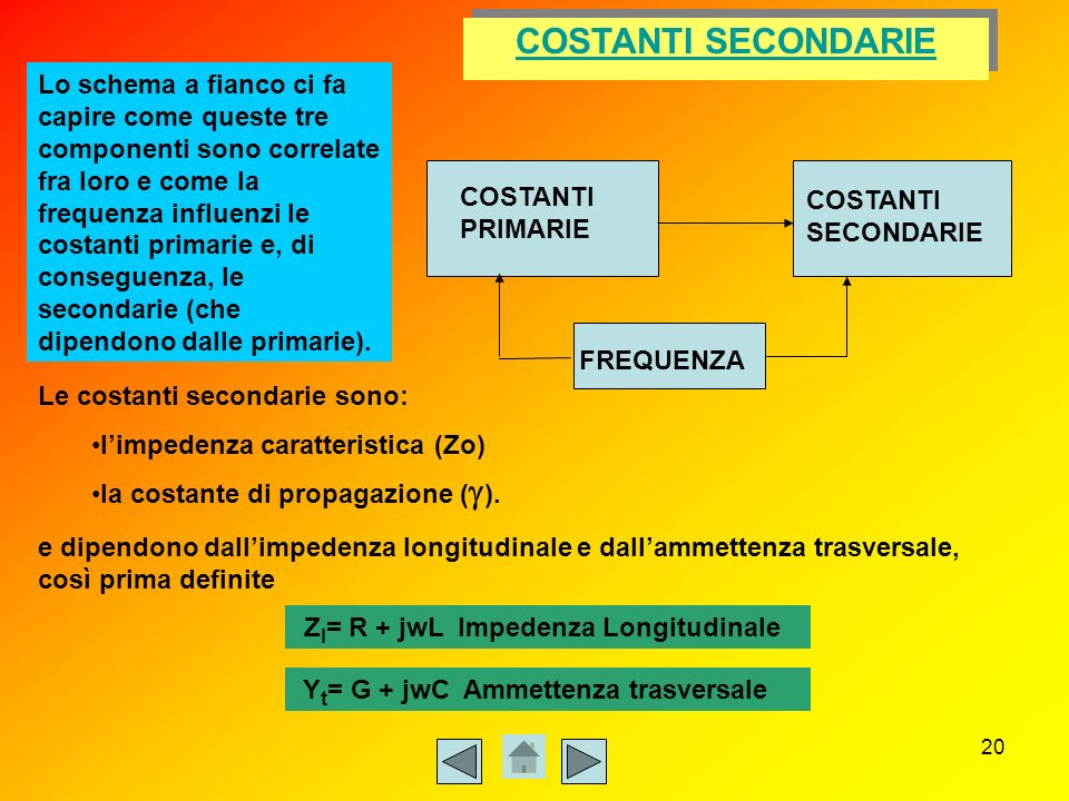 COSTANTI SECONDARIE