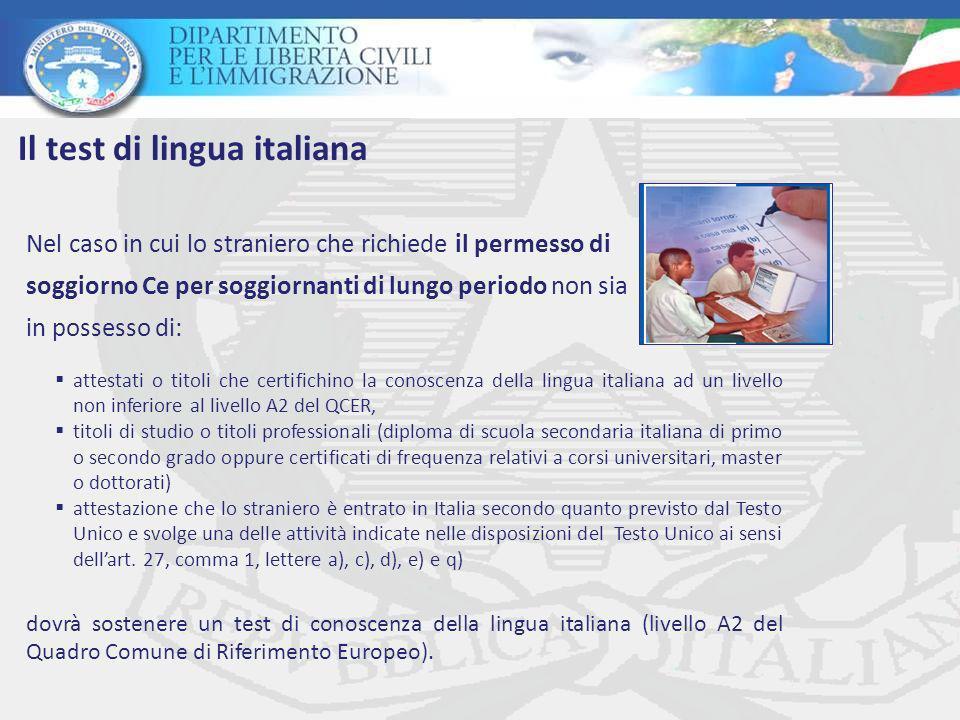 Il test di lingua italiana: il procedimento e i soggetti ...