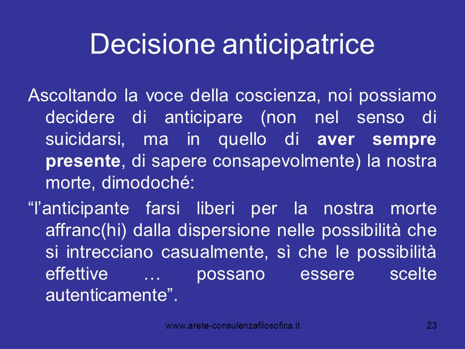 Decisione anticipatrice