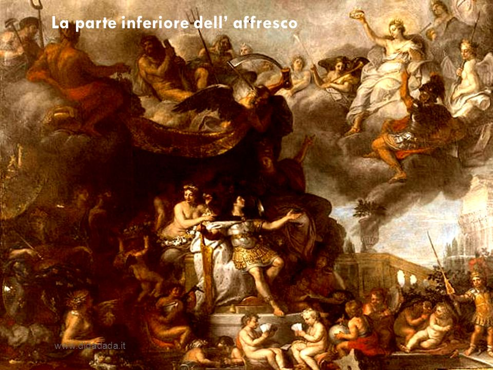 La parte inferiore dell' affresco