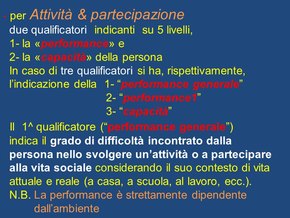 Il 1^ qualificatore ( performance generale )