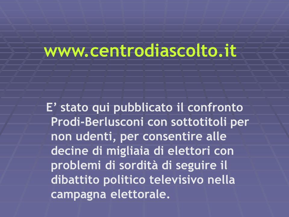 www.centrodiascolto.it
