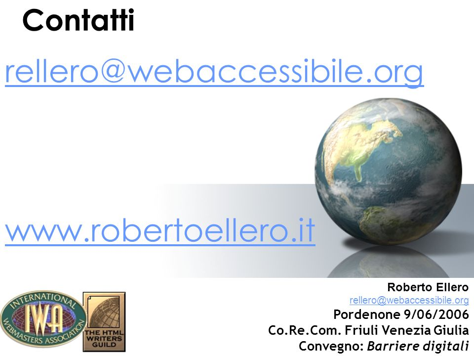 rellero@webaccessibile.org www.robertoellero.it