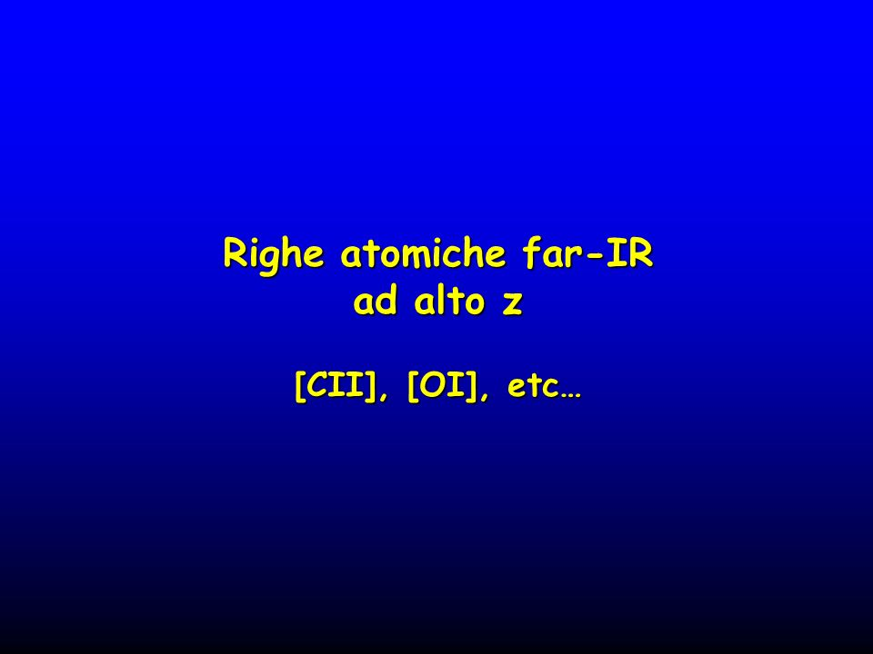 Righe atomiche far-IR ad alto z