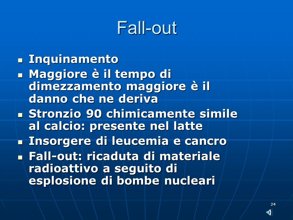 Fall-out Inquinamento