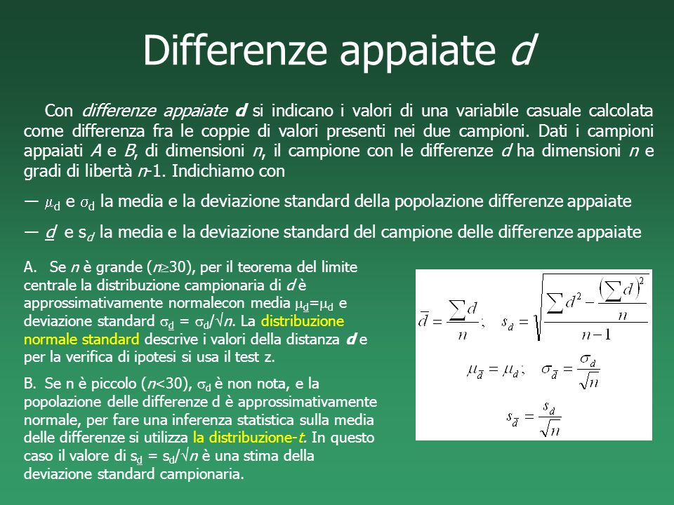 Differenze appaiate d