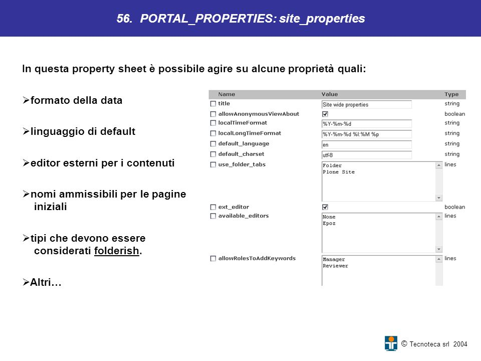 56. PORTAL_PROPERTIES: site_properties