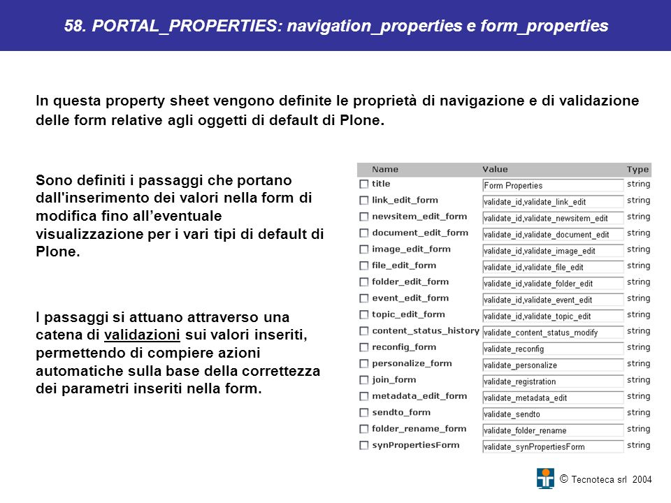 58. PORTAL_PROPERTIES: navigation_properties e form_properties