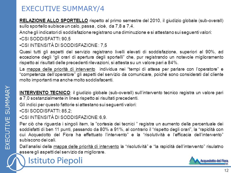 EXECUTIVE SUMMARY/4 EXECUTIVE SUMMARY