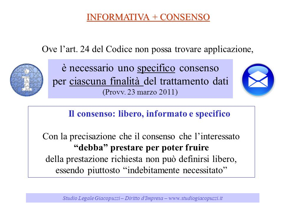 è necessario uno specifico consenso