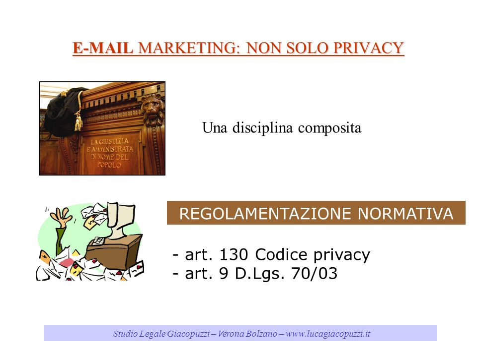 MARKETING: NON SOLO PRIVACY