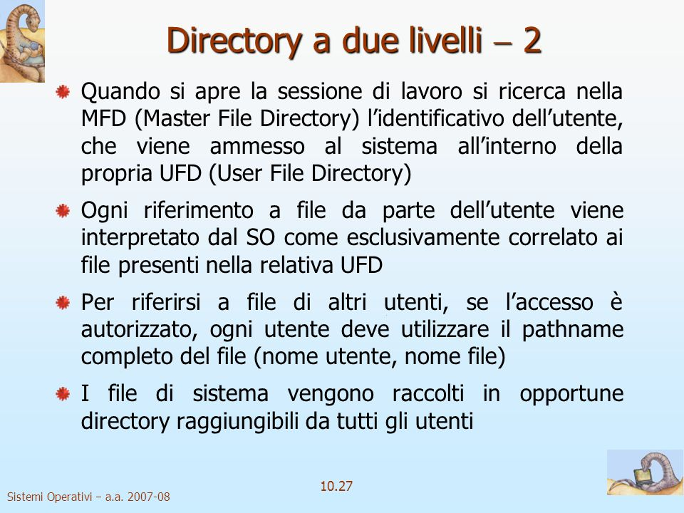Directory a due livelli  2