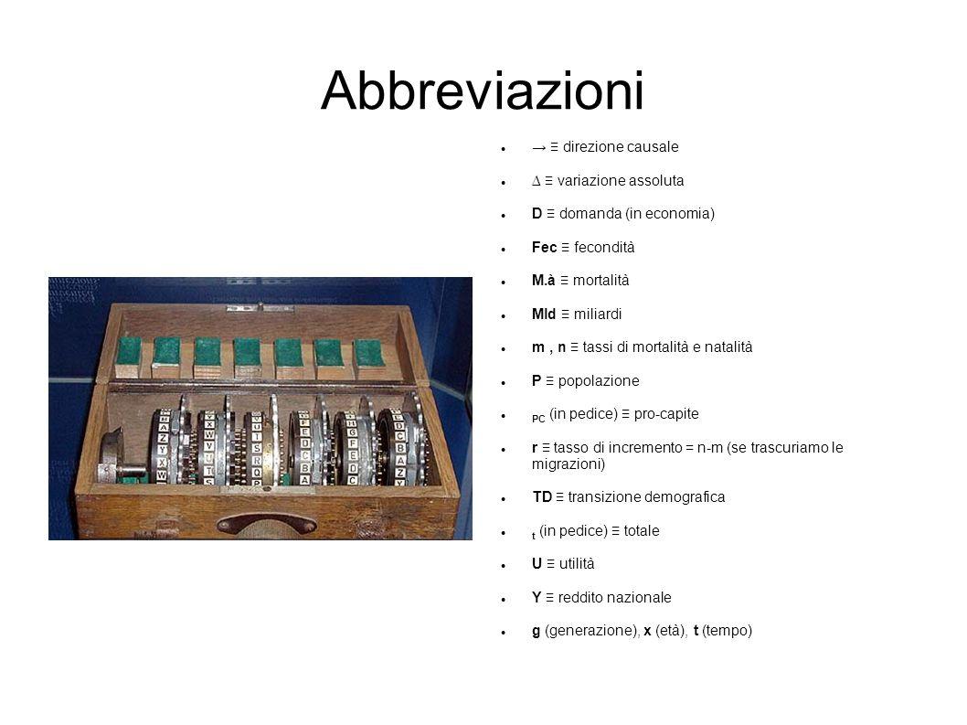 Abbreviazioni 1 Direzione Causale Variazione Assoluta
