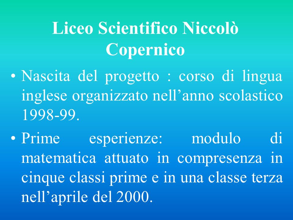 Liceo Scientifico Niccolò Copernico