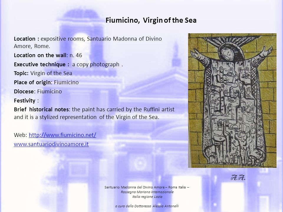 Fiumicino, Virgin of the Sea