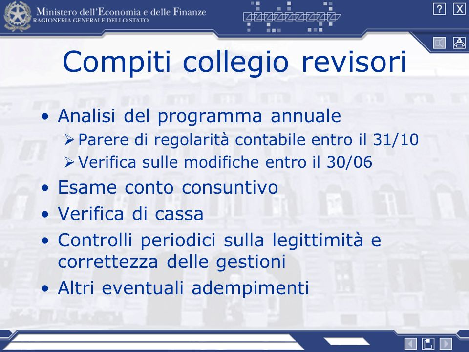 Compiti collegio revisori