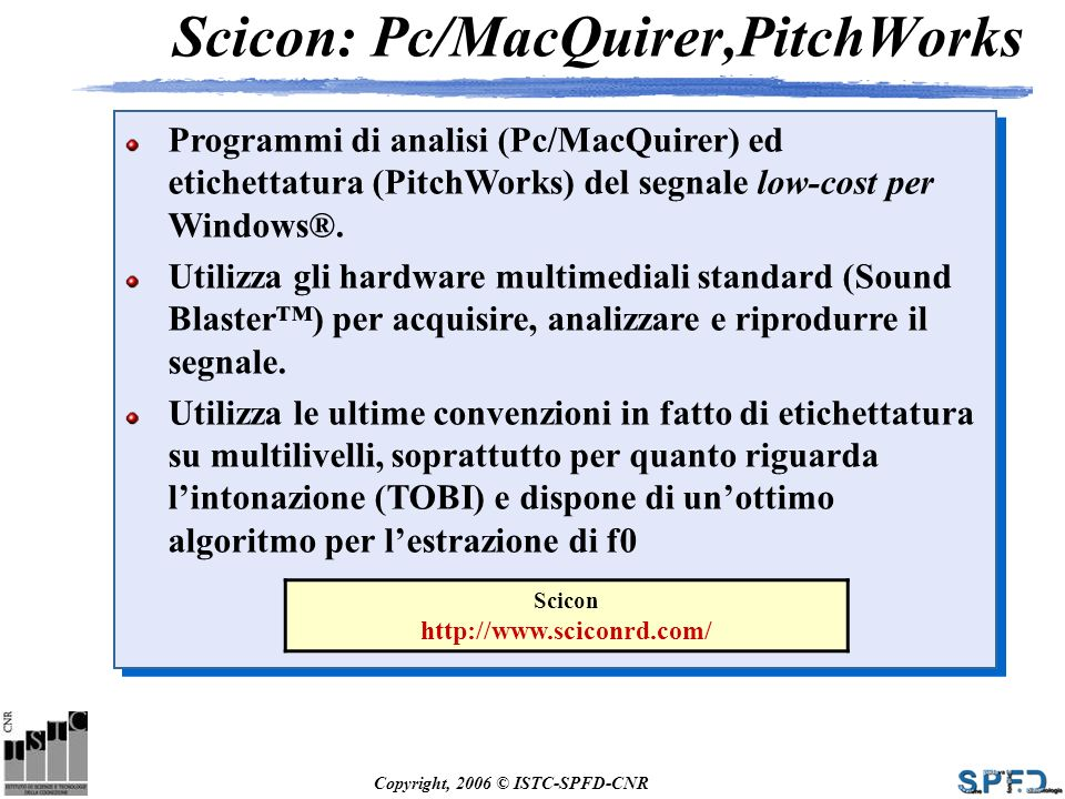 Scicon: Pc/MacQuirer,PitchWorks