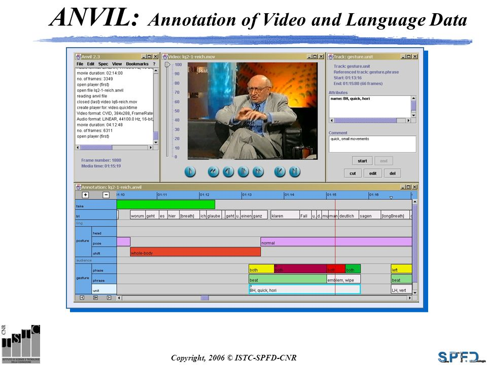 ANVIL: Annotation of Video and Language Data