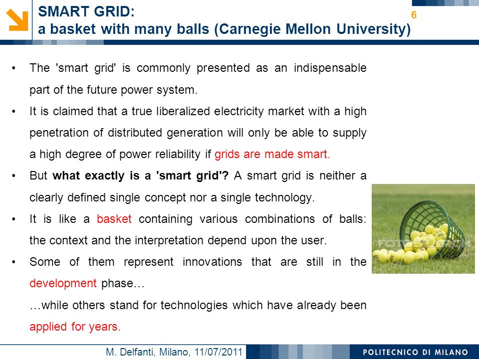 SMART GRID: a basket with many balls (Carnegie Mellon University)