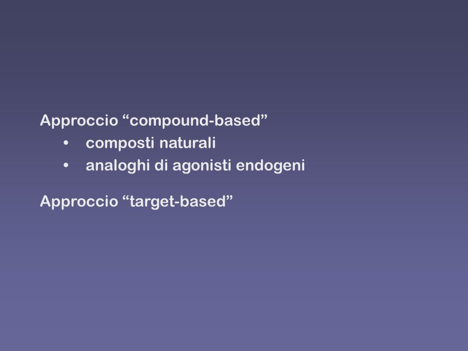 Approccio compound-based