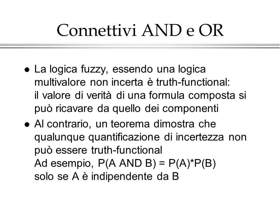 Connettivi AND e OR