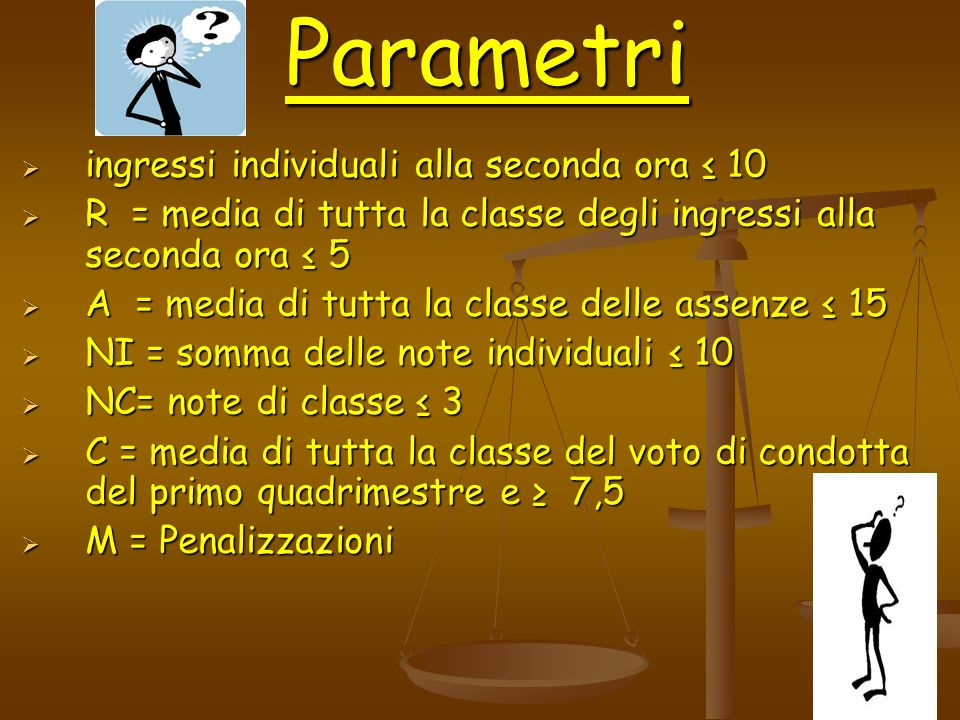 Parametri ingressi individuali alla seconda ora ≤ 10
