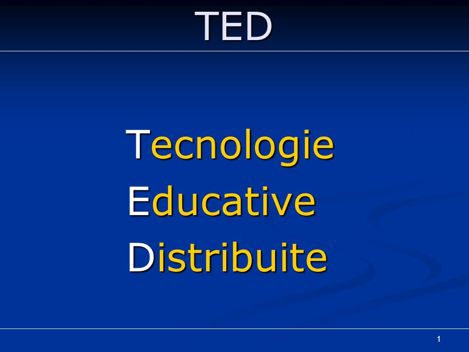 Tecnologie Educative Distribuite