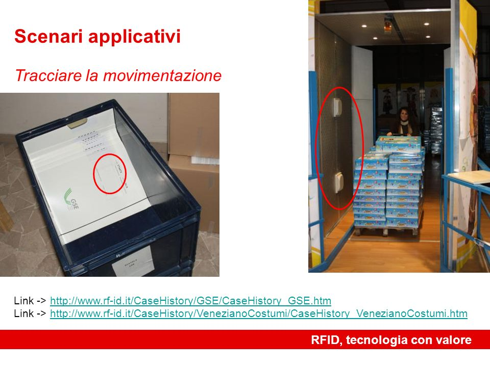 Scenari applicativi Tracciare la movimentazione