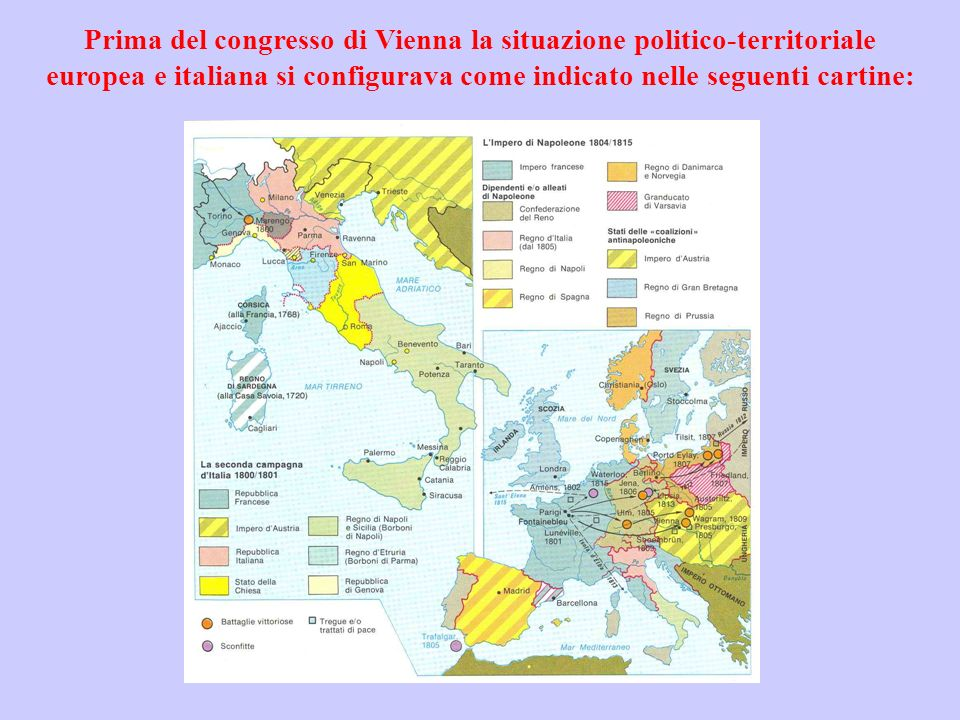 Cartina Dell Italia Nel 1815.Il Congresso Di Vienna Anno Ppt Video Online Scaricare