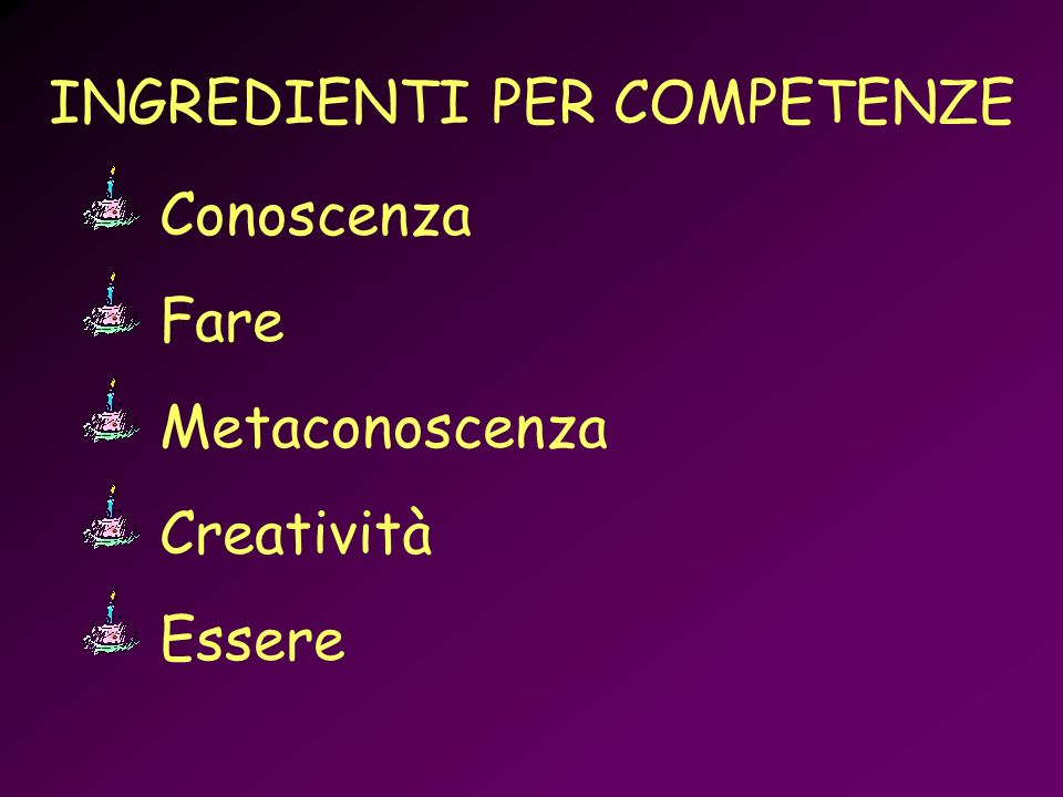 INGREDIENTI PER COMPETENZE