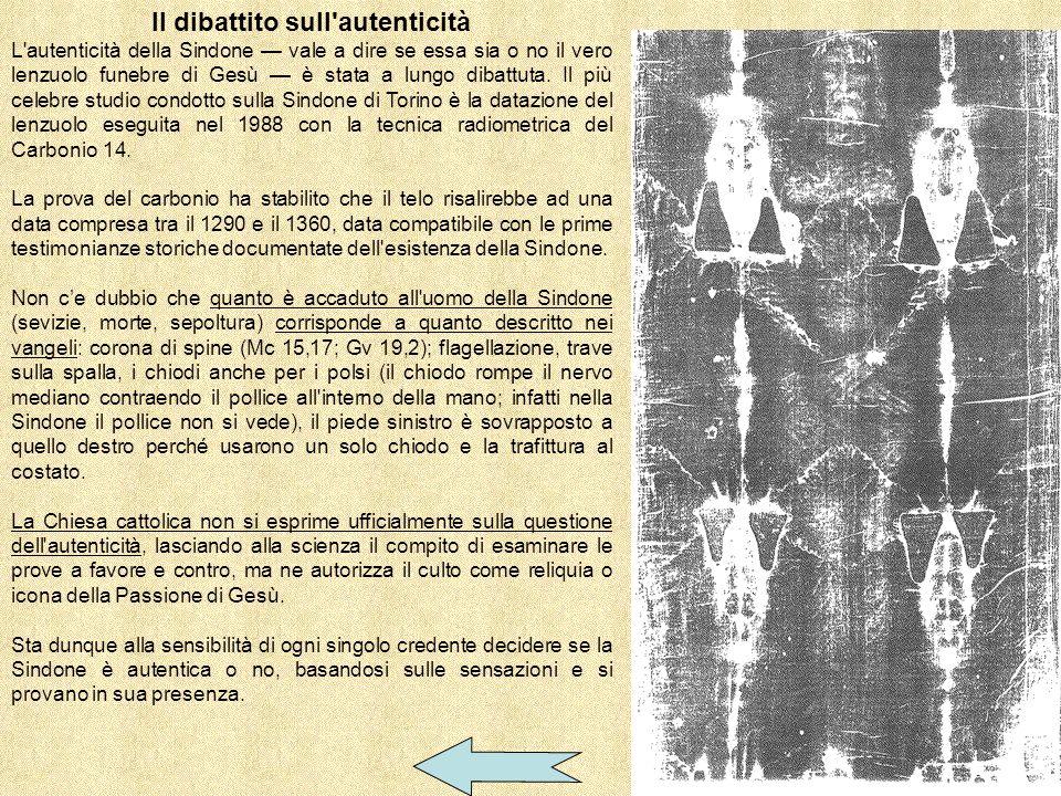 Sindone con datazione radiometrica di Torino