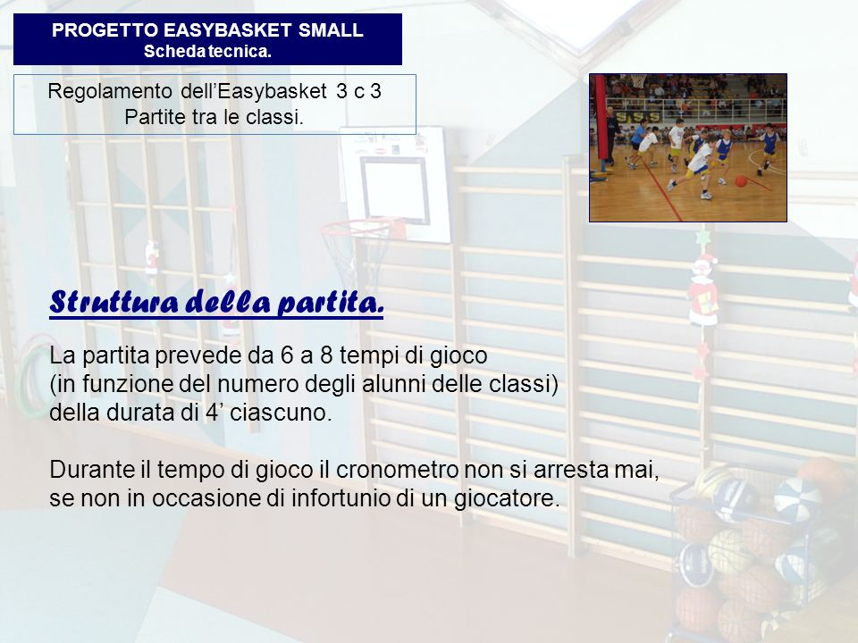 PROGETTO EASYBASKET SMALL