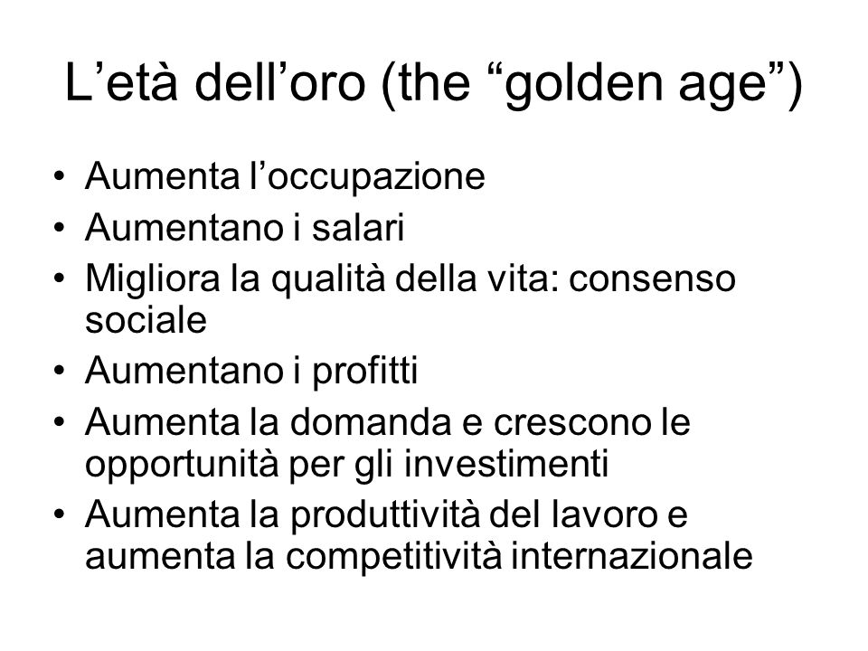 L'età dell'oro (the golden age )