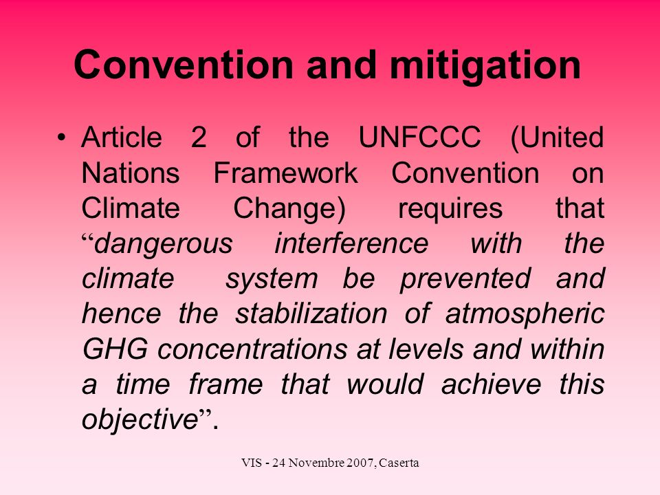 Convention and mitigation