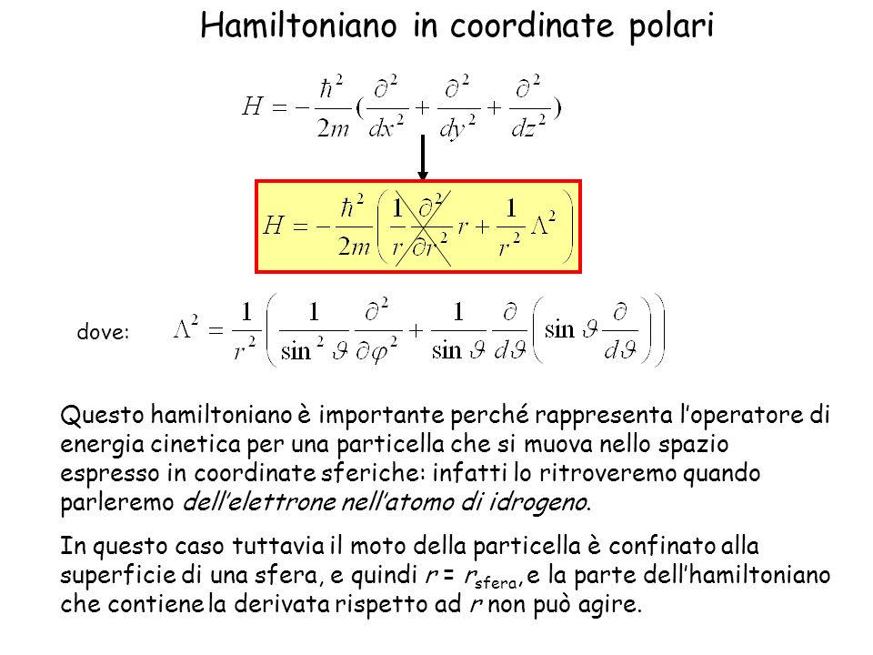 Hamiltoniano in coordinate polari