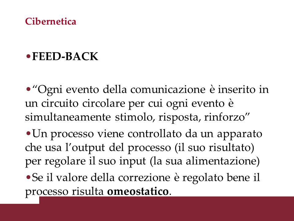 Cibernetica FEED-BACK.