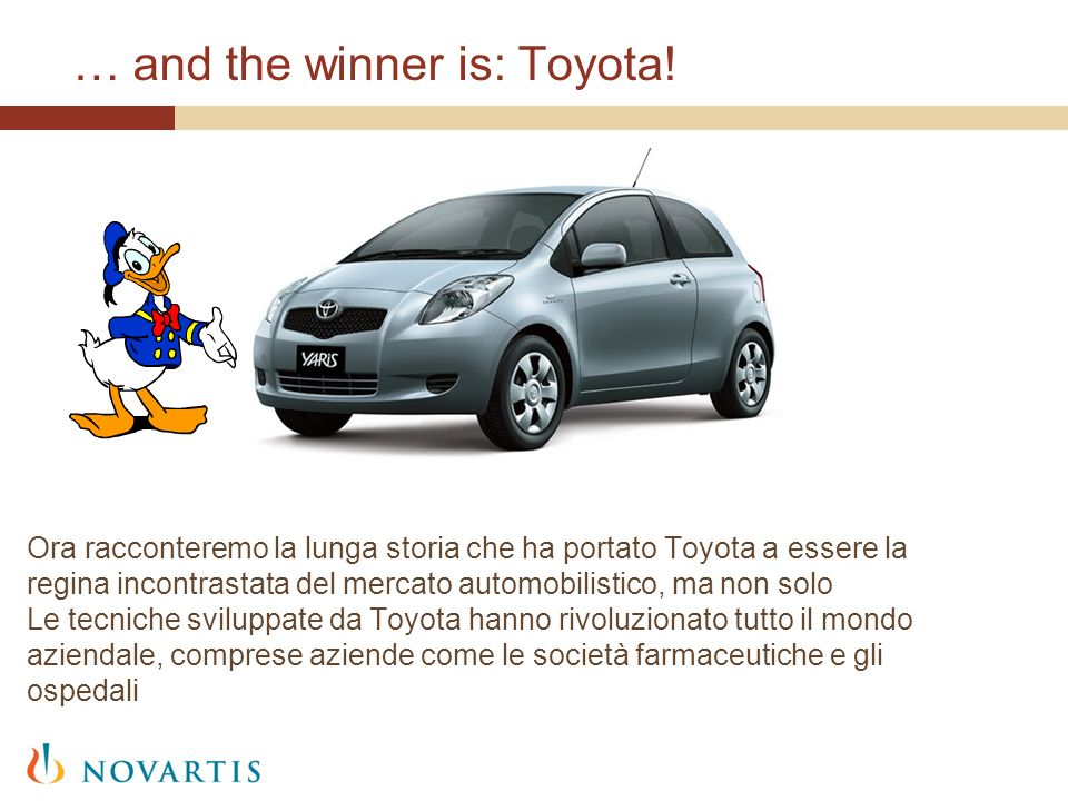 … and the winner is: Toyota!