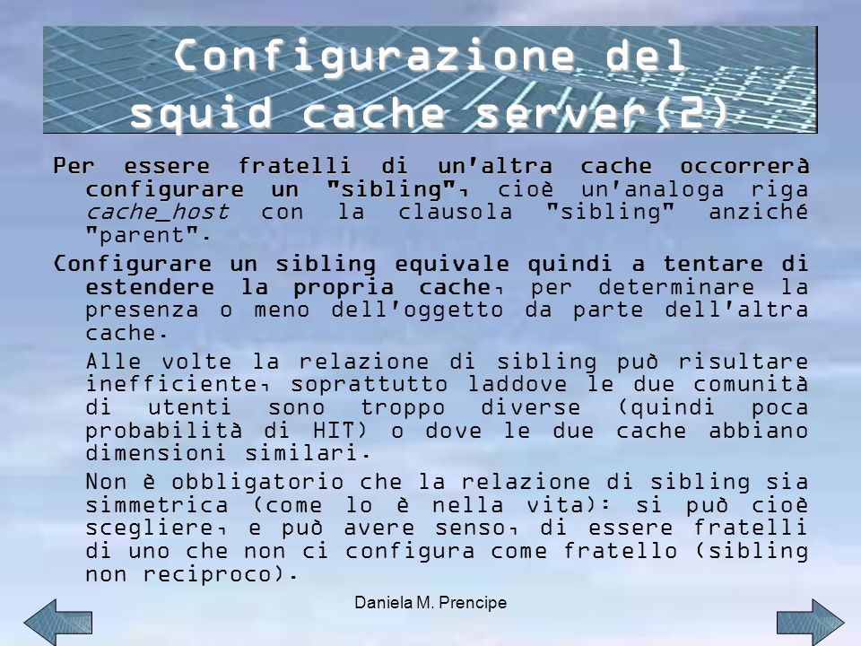 Configurazione del squid cache server(2)