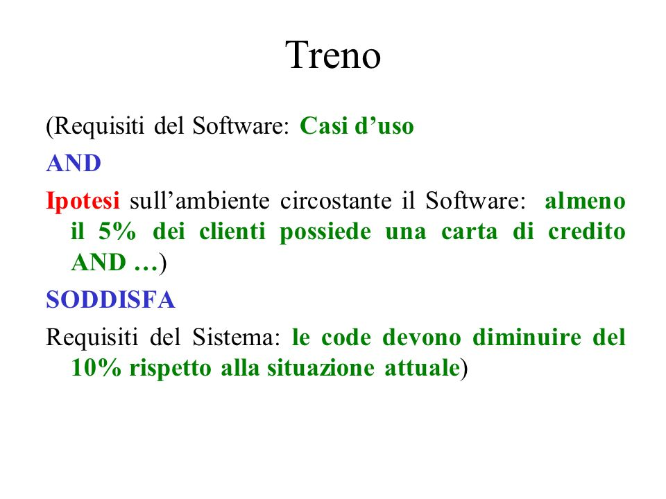 Treno (Requisiti del Software: Casi d'uso AND