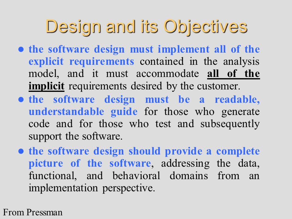 Design and its Objectives