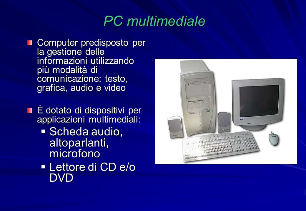 PC multimediale Scheda audio, altoparlanti, microfono