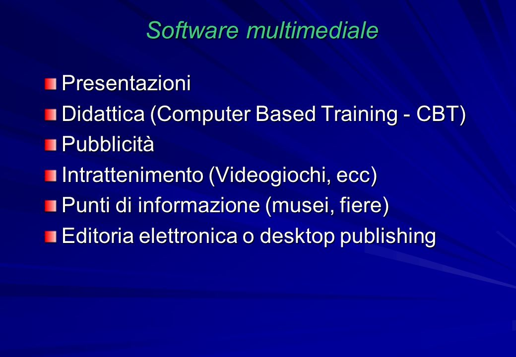 Software multimediale