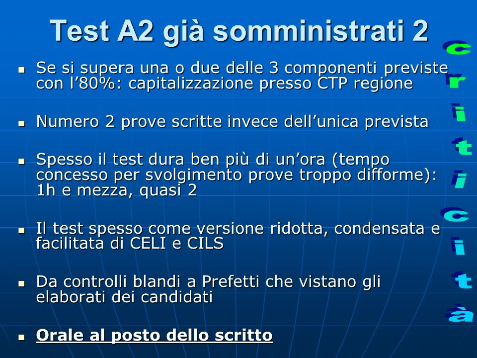 Test A2 già somministrati 2