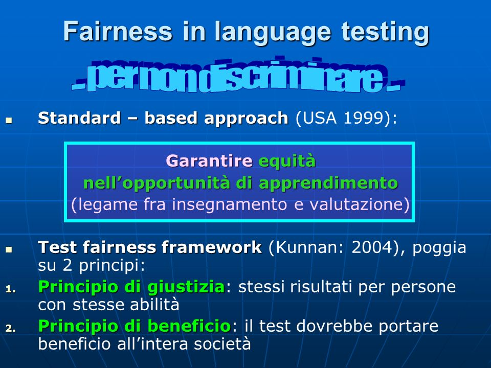 Fairness in language testing